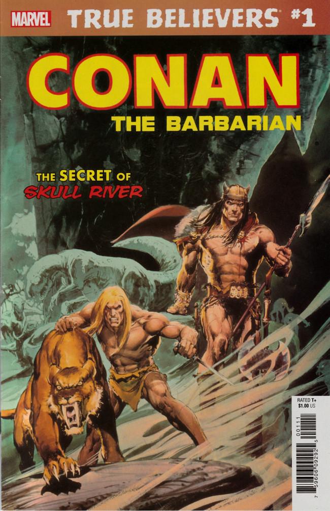 Couverture de True Believers: Conan (2019) - True Believers: Conan - The secret of skull river