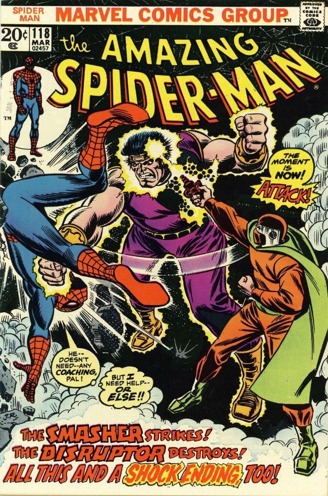 Couverture de The amazing Spider-Man Vol.1 (Marvel comics - 1963) -118- The Smasher Strikes! The Disruptor Destroys!