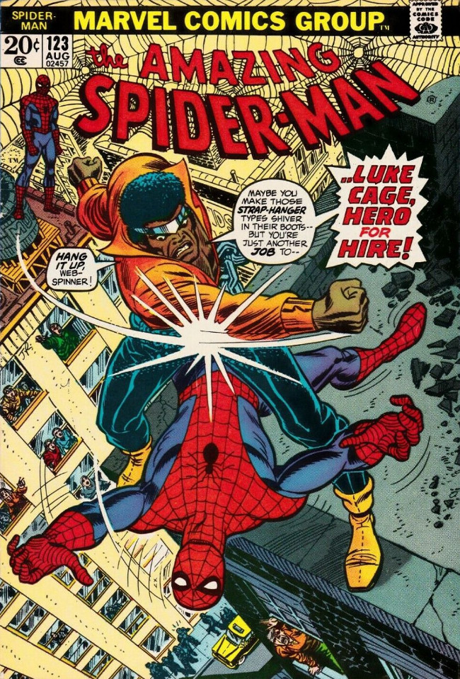 Couverture de The amazing Spider-Man Vol.1 (Marvel comics - 1963) -123- Luke Cage, Hero For Hire!