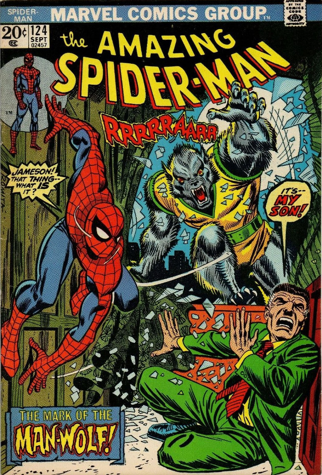 Couverture de The amazing Spider-Man Vol.1 (Marvel comics - 1963) -124- The Mark of the Man-Wolf!