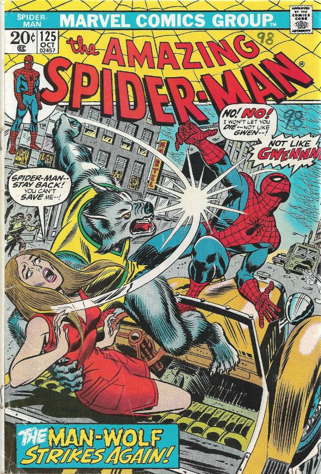 Couverture de The amazing Spider-Man Vol.1 (Marvel comics - 1963) -125- The Man-Wolf Strikes Again!