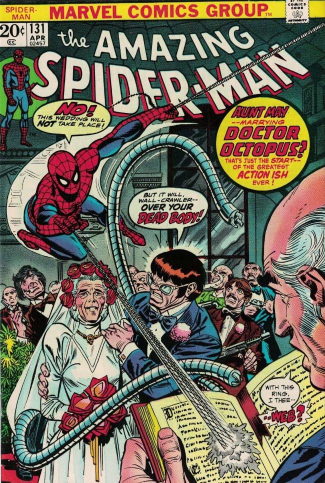 Couverture de The amazing Spider-Man Vol.1 (Marvel comics - 1963) -131- Aunt May --Marrying Dr. Octopus?