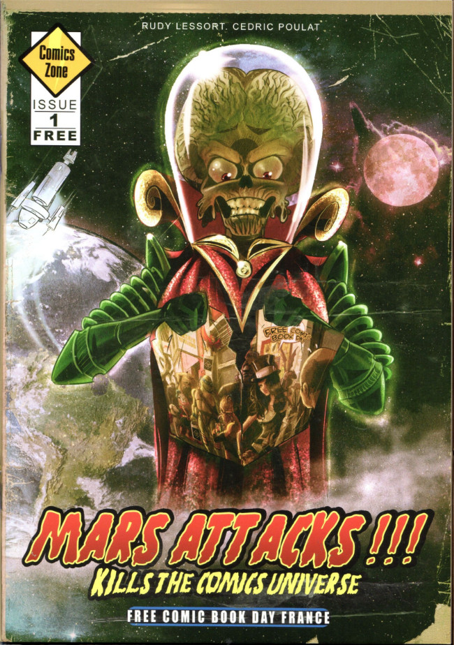 Couverture de Free Comic Book Day 2019 (France) - Mars Attacks !!kill the comics universe
