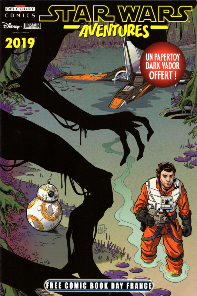 Couverture de Free Comic Book Day 2019 (France) - Star Wars Adventures