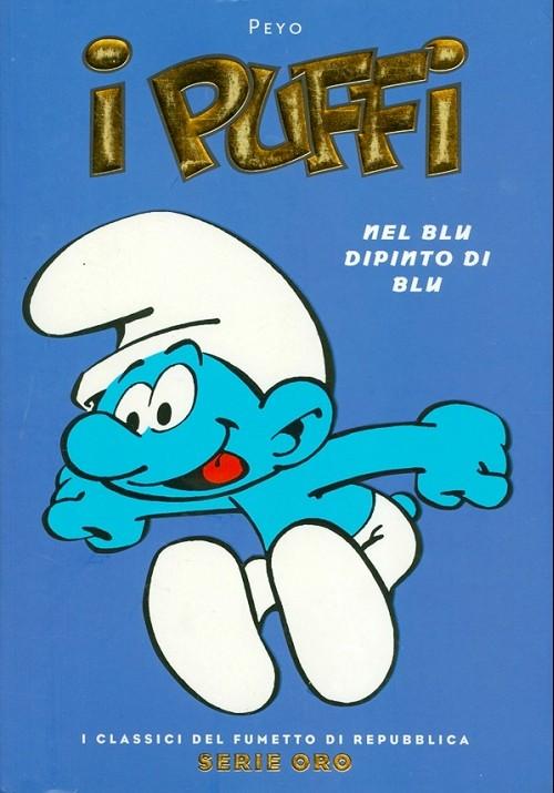 Couverture de Classici del Fumetto di Repubblica (I) - Serie Oro -46- I puffi - Nel blu dipinto di blu