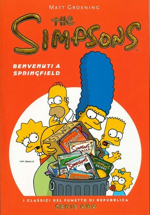 Couverture de Classici del Fumetto di Repubblica (I) - Serie Oro -49- The Simpsons - Benvenuti a Springfield