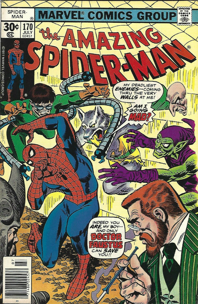 Couverture de The amazing Spider-Man Vol.1 (Marvel comics - 1963) -170- Madness Is All in the Mind!