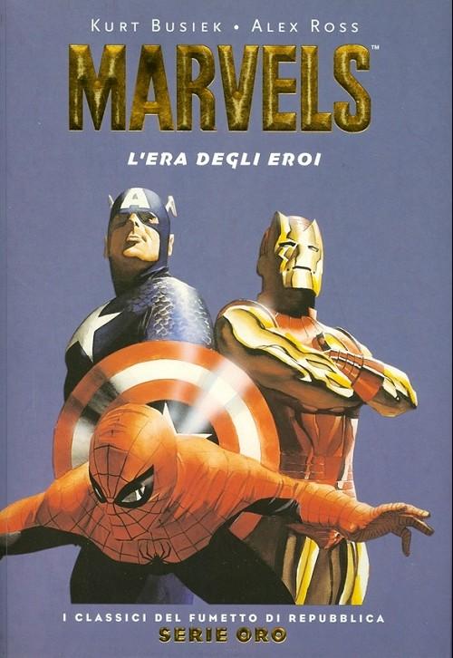 Couverture de Classici del Fumetto di Repubblica (I) - Serie Oro -19- Marvels - L'era degli eroi