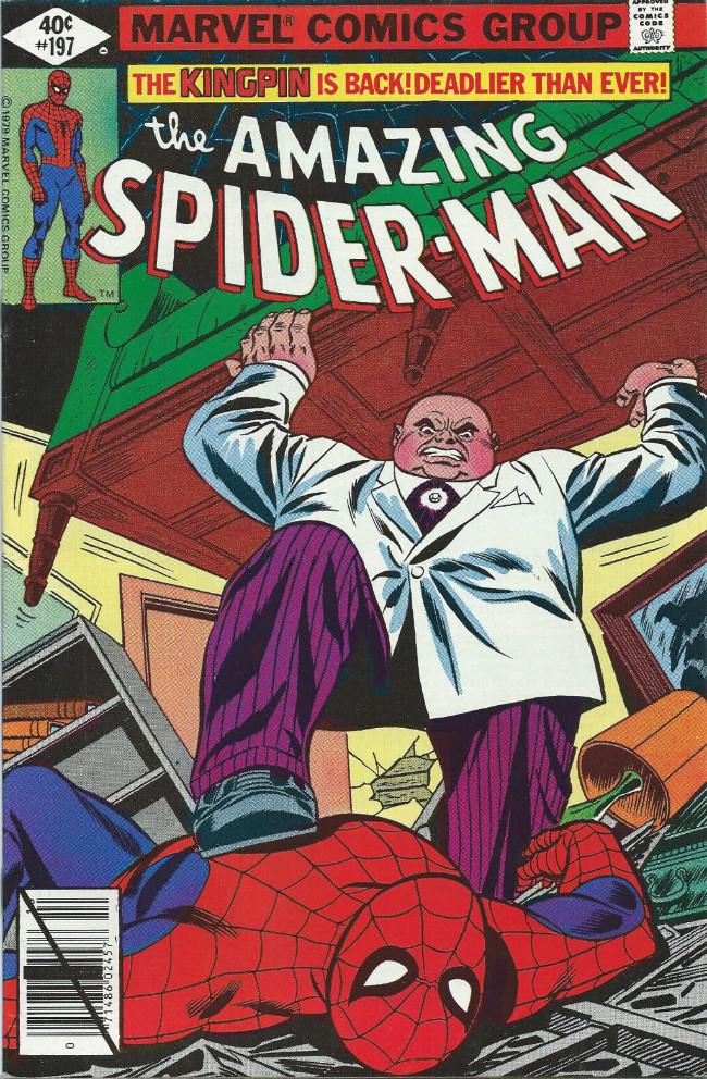 Couverture de The amazing Spider-Man Vol.1 (Marvel comics - 1963) -197- The Kingpin Is Back! Deadlier Than Ever!