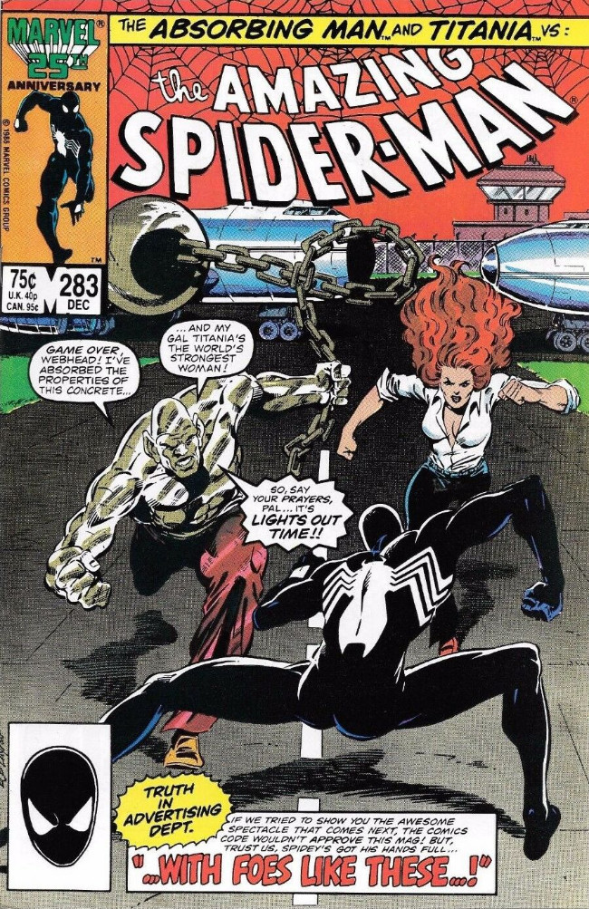 Couverture de The amazing Spider-Man Vol.1 (Marvel comics - 1963) -283- ...With Foes Like These...!