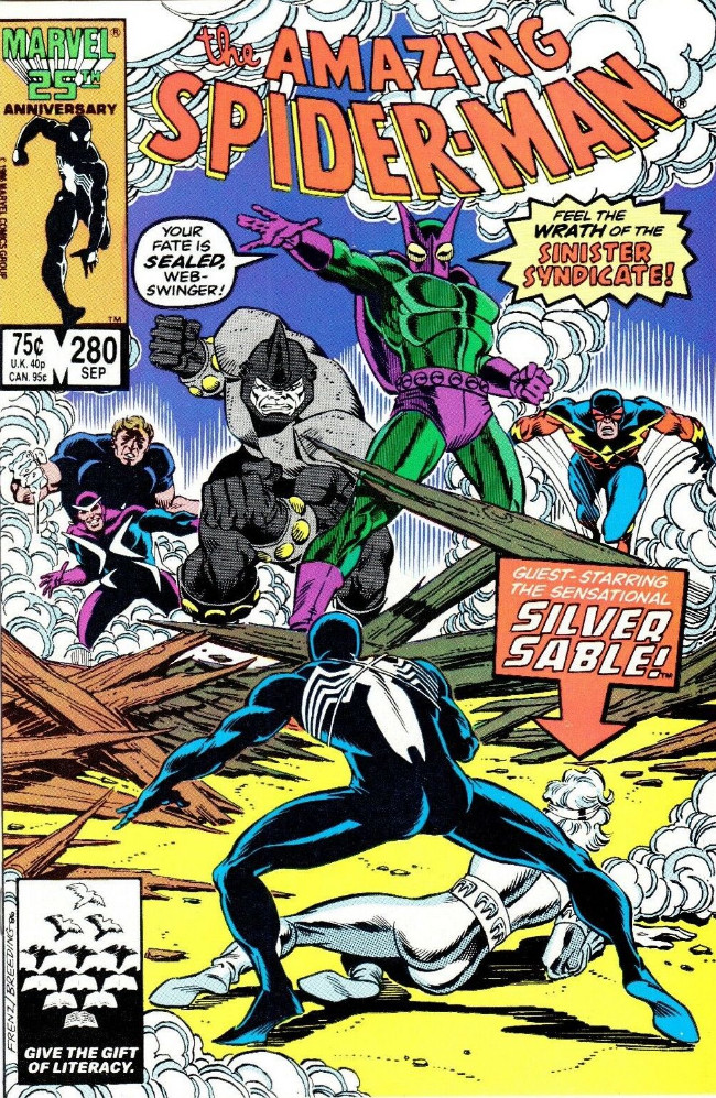 Couverture de The amazing Spider-Man Vol.1 (Marvel comics - 1963) -280- Introducing the Sinister Syndicate!