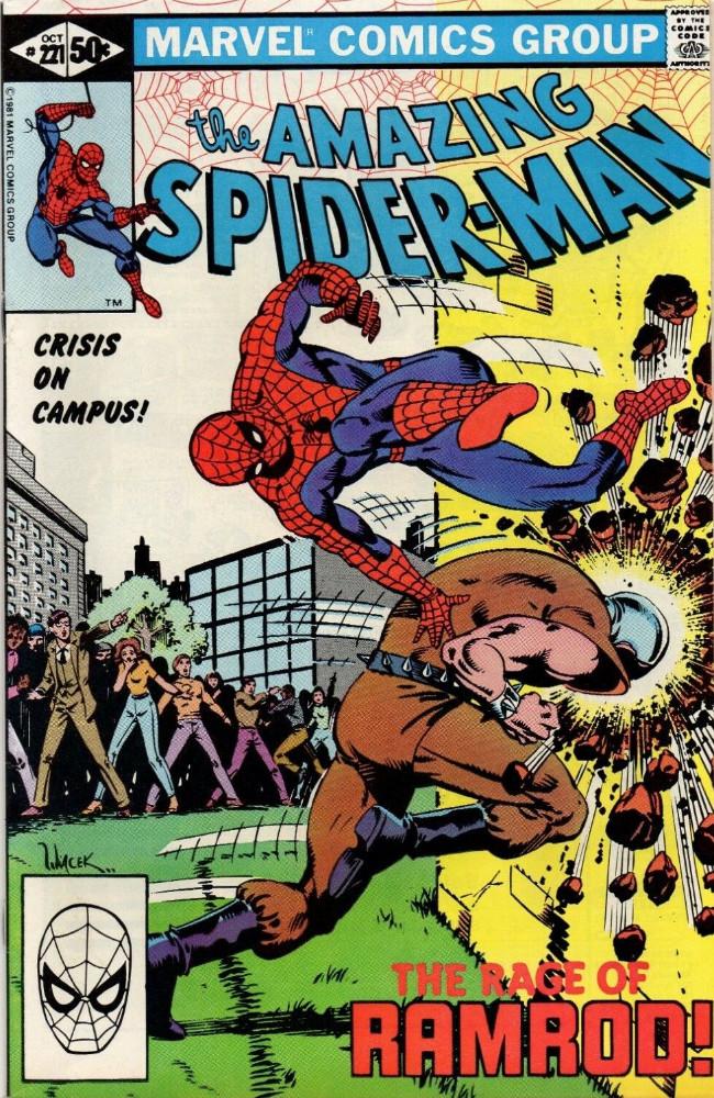 Couverture de The amazing Spider-Man Vol.1 (Marvel comics - 1963) -221- Crisis on Campus!