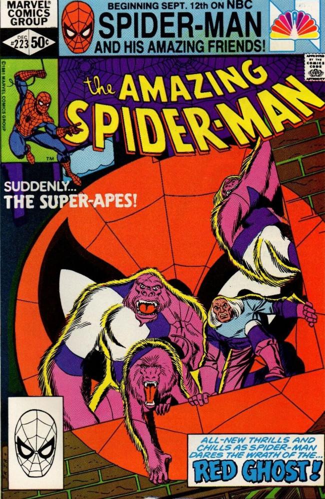 Couverture de The amazing Spider-Man Vol.1 (Marvel comics - 1963) -223- Suddenly... The Super-Apes!