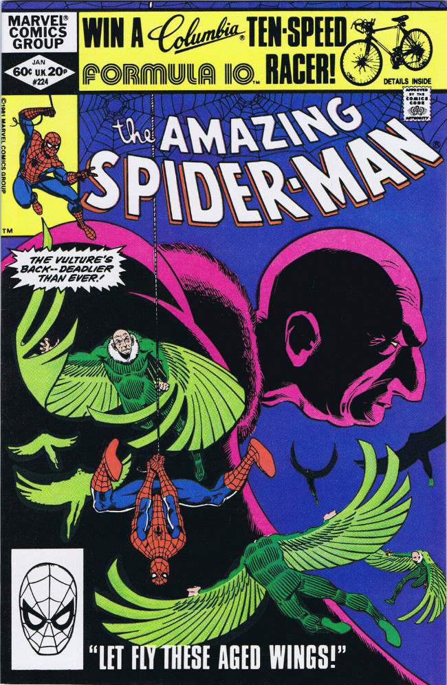 Couverture de The amazing Spider-Man Vol.1 (Marvel comics - 1963) -224- Let Fly These Aged Wings!