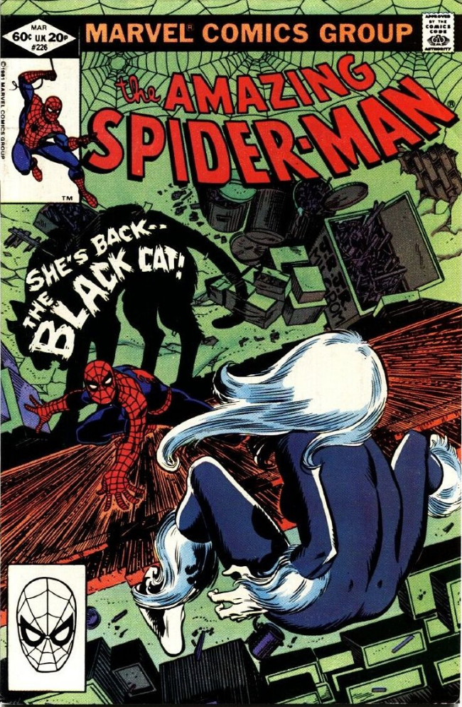 Couverture de The amazing Spider-Man Vol.1 (Marvel comics - 1963) -226- She's Back-- The Black Cat!