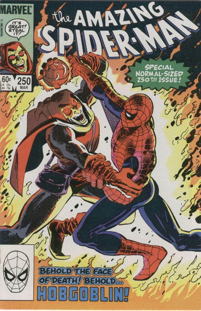 Couverture de The amazing Spider-Man Vol.1 (Marvel comics - 1963) -250- Behold the Face of Death! Behold... Hobgoblin!