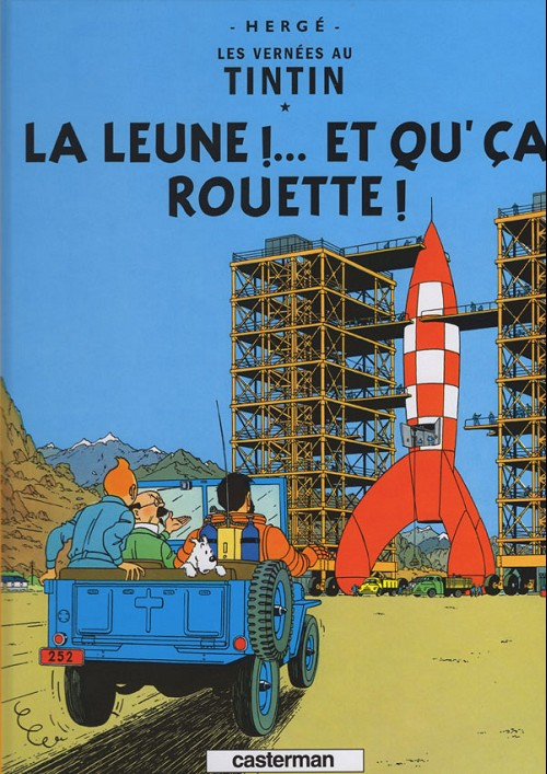 Couverture de Tintin (en langues régionales) -16Sarthois- La leune !... et qu'ça rouette !
