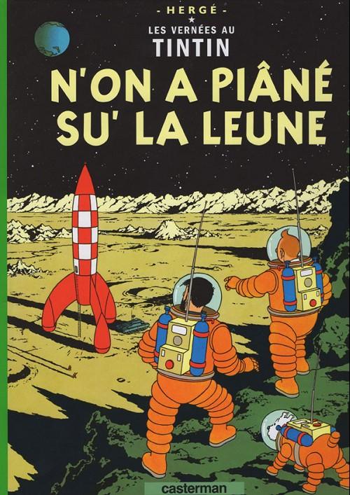 Couverture de Tintin (en langues régionales) -17Sarthois- N'on a piâné su' la leune