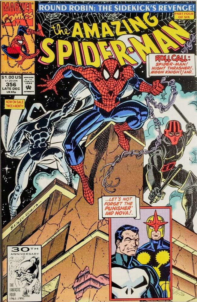 Couverture de The amazing Spider-Man Vol.1 (Marvel comics - 1963) -356- Round Robin: The Sidekick's Revenge! Part Four of Six