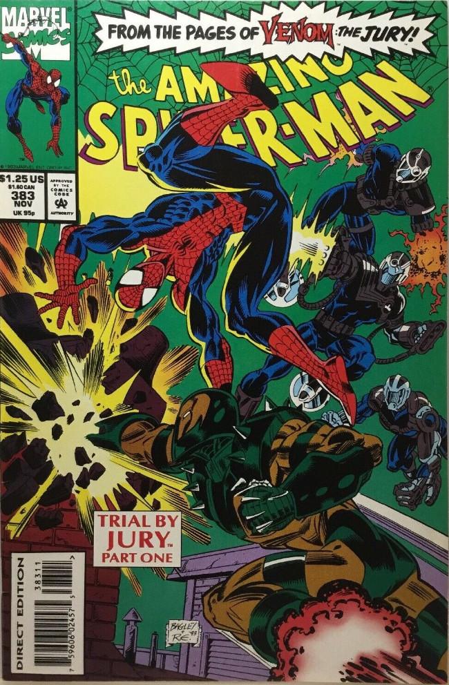 Couverture de The amazing Spider-Man Vol.1 (Marvel comics - 1963) -383- Trial By Jury Part One