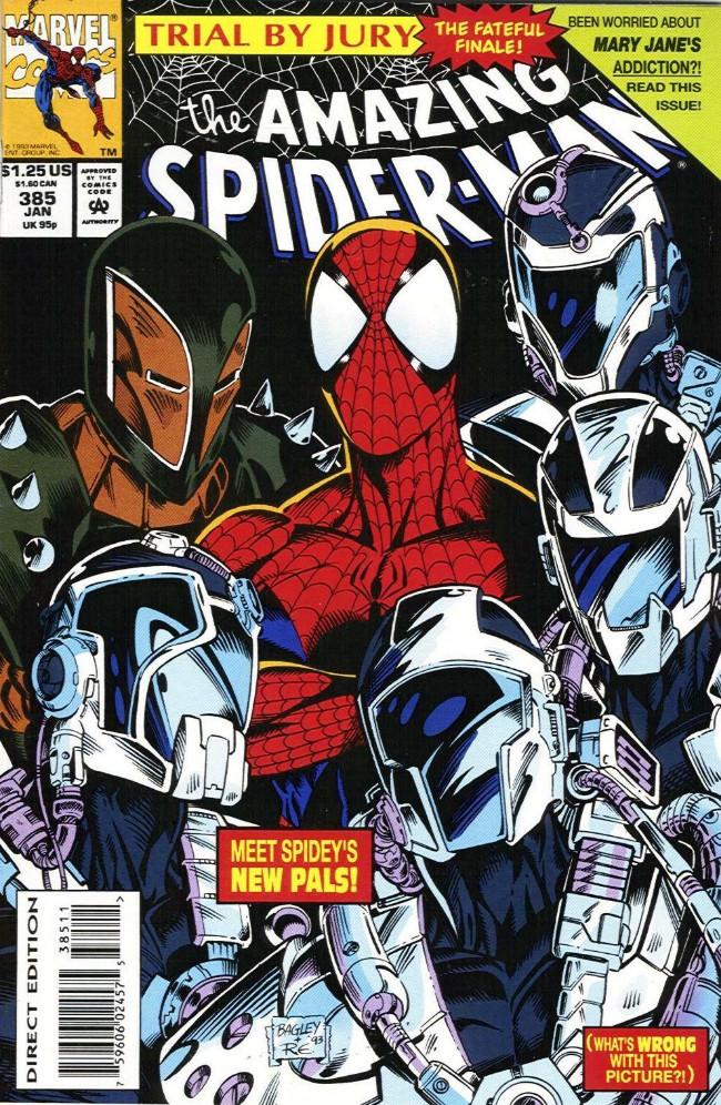 Couverture de The amazing Spider-Man Vol.1 (Marvel comics - 1963) -385- Trial by Jury the Fateful Finale!