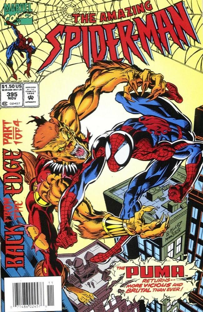 Couverture de The amazing Spider-Man Vol.1 (Marvel comics - 1963) -395- Back from the Edge Part 1
