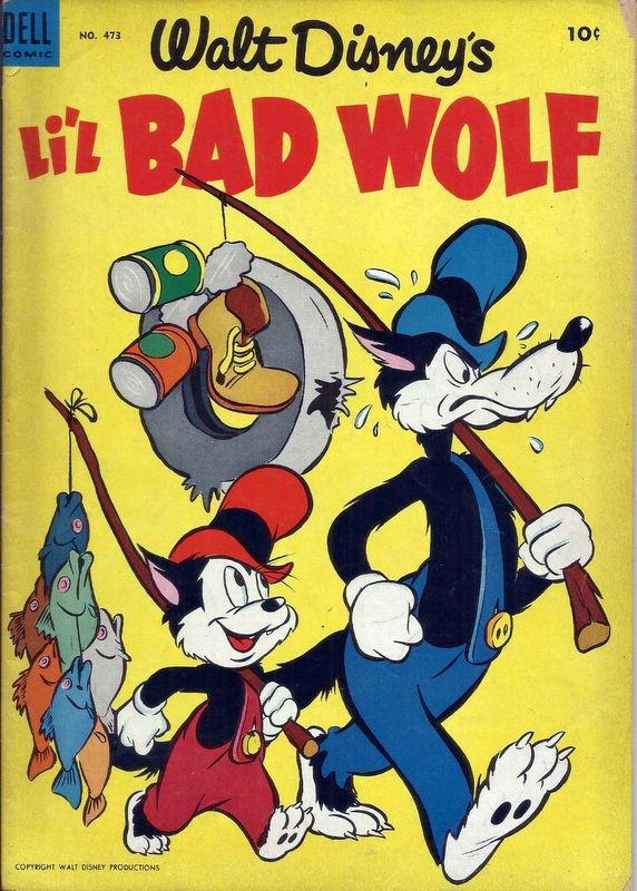 Couverture de Four Color Comics (Dell - 1942) -473- Walt Disney's Li'l Bad Wolf