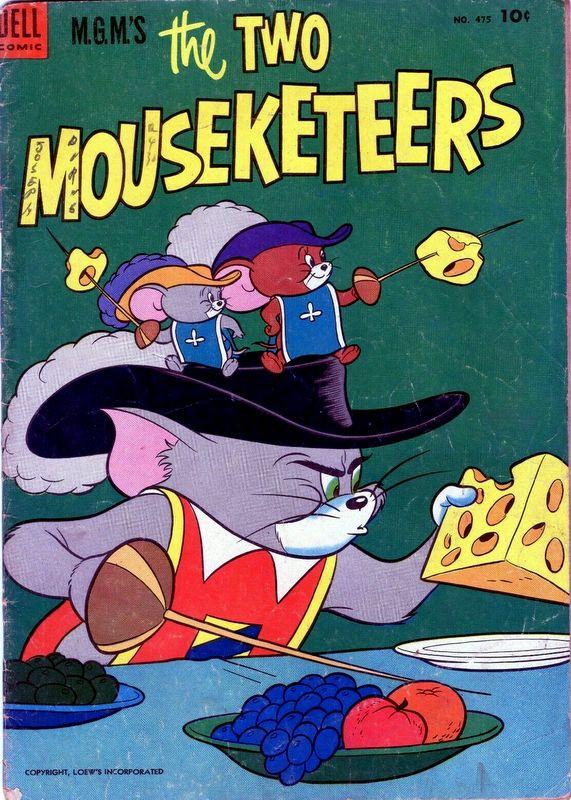Couverture de Four Color Comics (Dell - 1942) -475- M.G.M.'s the Two Mouseketeers