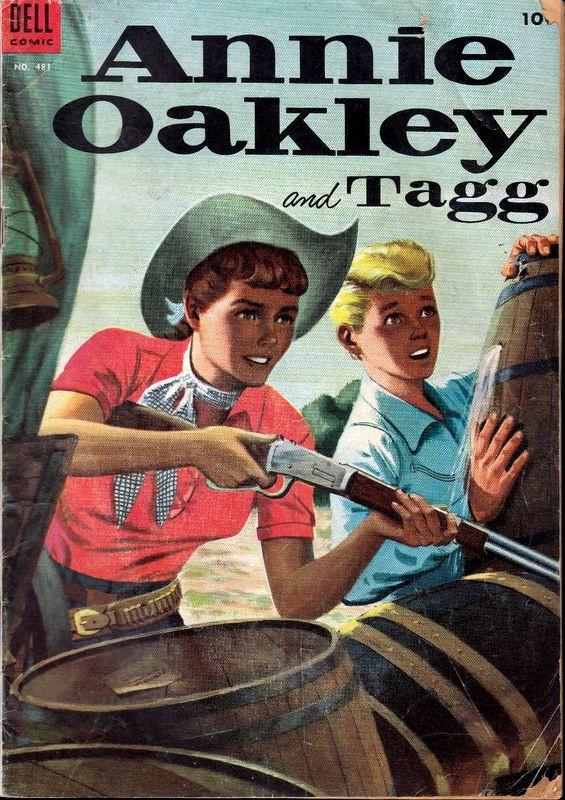 Couverture de Four Color Comics (Dell - 1942) -481- Annie Oakley and Tagg