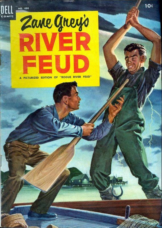 Couverture de Four Color Comics (Dell - 1942) -484- Zane Grey's River Feud
