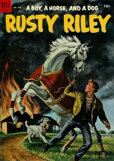 Couverture de Four Color Comics (Dell - 1942) -486- A Boy, a Horse, and a Dog Rusty Riley
