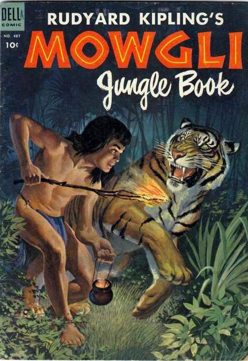 Couverture de Four Color Comics (Dell - 1942) -487- Rudyard Kipling's Mowgli Jungle Book
