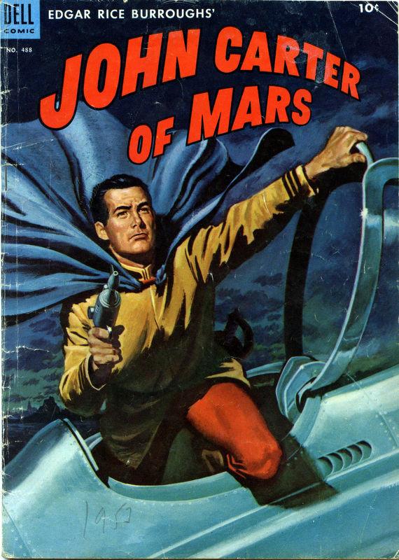 Couverture de Four Color Comics (Dell - 1942) -488- Edgar Rice Burroughs' John Carter of Mars