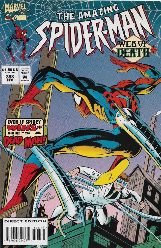 Couverture de Amazing Spider-Man (The) (1963) -398- Web of Death Part 3 of 4