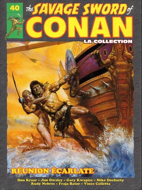 Couverture de Savage Sword of Conan (The) - La Collection (Hachette) -40- Réunion écarlate