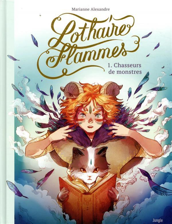 Couverture de Lothaire Flammes -1- Chasseurs de monstres