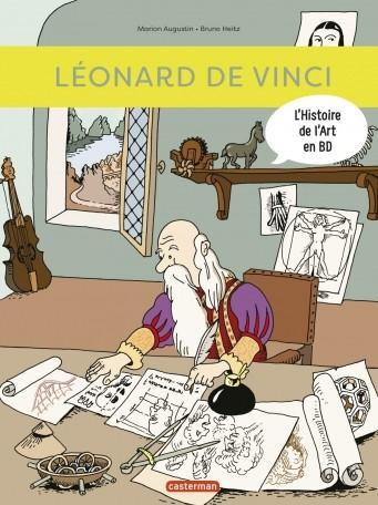 Couverture de L'histoire de l'art en BD -4- Léonard de Vinci