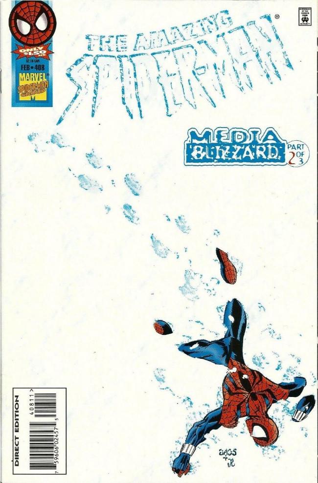 Couverture de The amazing Spider-Man Vol.1 (Marvel comics - 1963) -408- Media Blizzard, Part 2 of 3