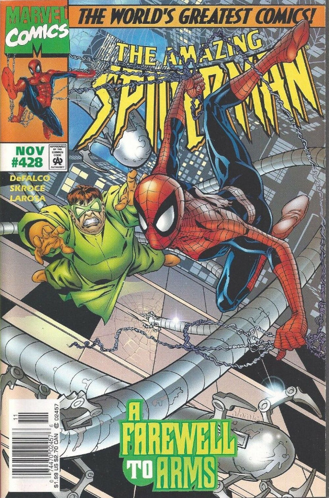 Couverture de The amazing Spider-Man Vol.1 (Marvel comics - 1963) -428- A Farewell to Arms