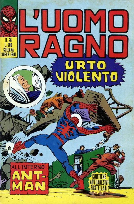 Couverture de L'uomo Ragno V1 (Editoriale Corno - 1970)  -26- Urto Violento