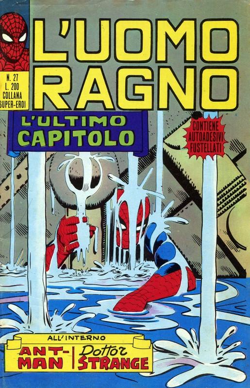 Couverture de L'uomo Ragno V1 (Editoriale Corno - 1970)  -27- L'Ultimo Capitolo