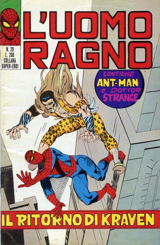 Couverture de L'uomo Ragno V1 (Editoriale Corno - 1970)  -28- Il Ritorno di Kraven