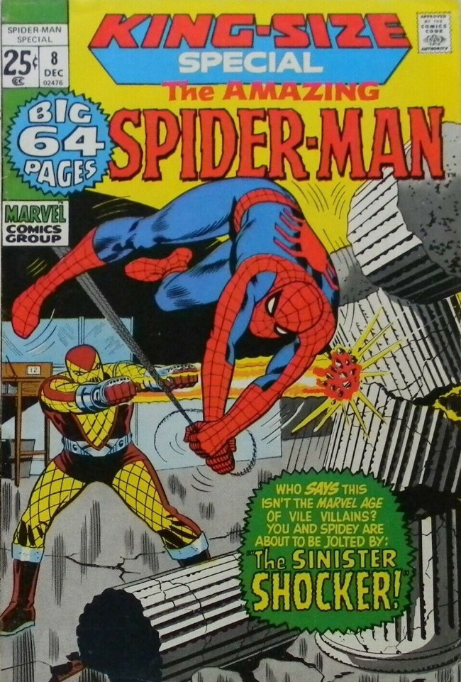 Couverture de The amazing Spider-Man Vol.1 (Marvel comics - 1963) -AN08- The Sinister Shocker!