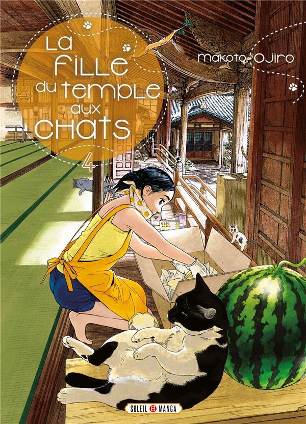 Couverture de La fille du temple aux chats -4- Tome 4