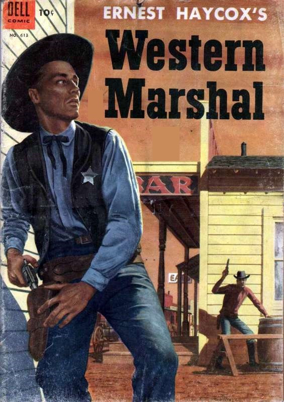 Couverture de Four Color Comics (Dell - 1942) -613- Ernest Haycox's Western Marshal