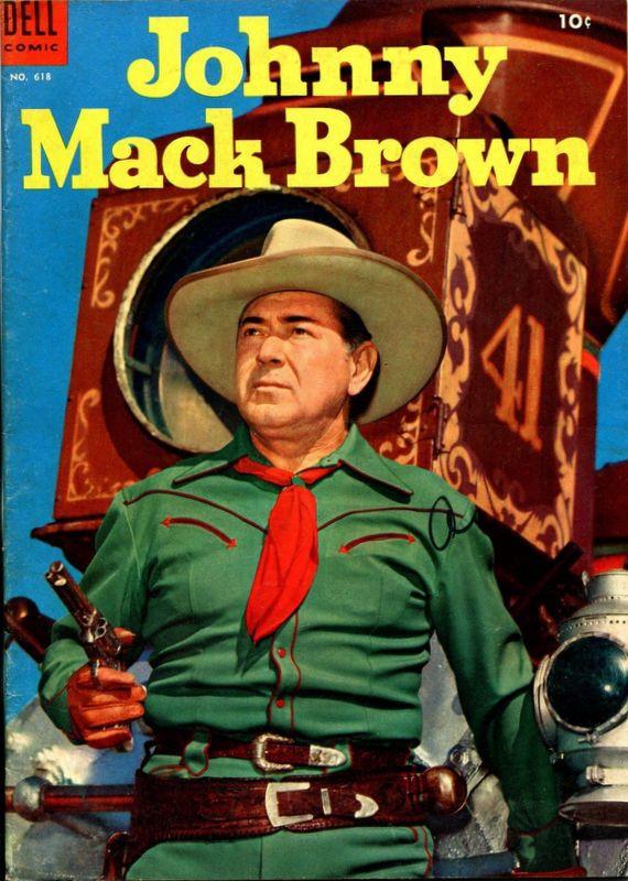 Couverture de Four Color Comics (Dell - 1942) -618- Johnny Mack Brown