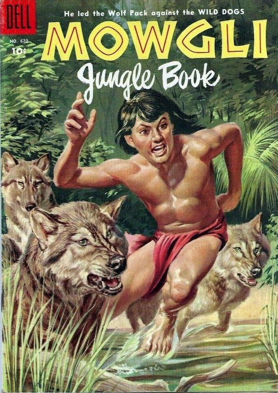 Couverture de Four Color Comics (Dell - 1942) -620- Rudyard Kipling's Mowgli Jungle Book