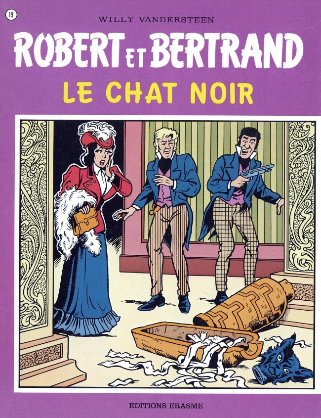 Couverture de Robert et Bertrand -19- Le chat noir