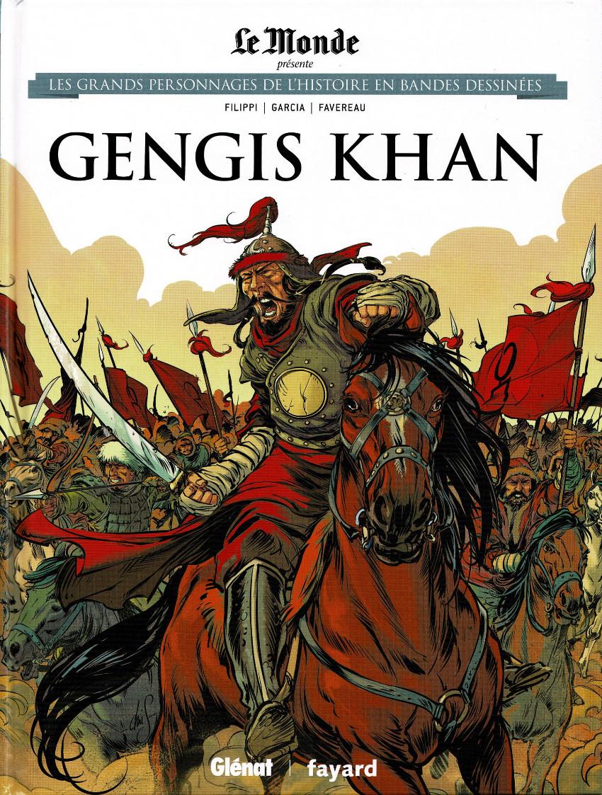 Couverture de Les grands personnages de l'histoire en bandes dessinées -12- Gengis Khan