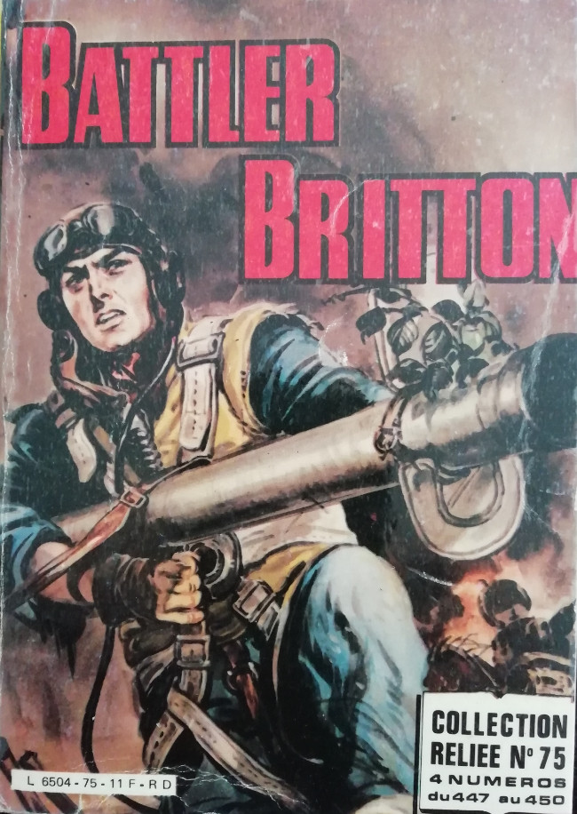 Couverture de Battler Britton (Imperia) -Rec75- Collection Reliée N°75 (du n°447 au n°450)